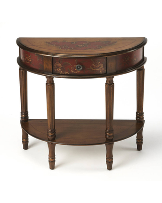 Butler Mozart Hand Painted Demilune Console Table - butler specialty company