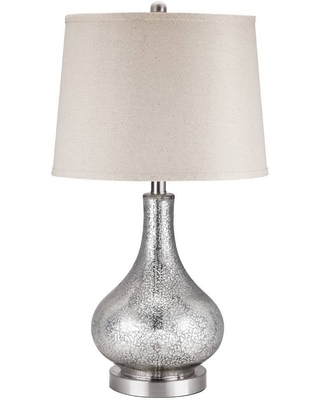 Glass Gourd Table Lamp Includes LED Light Bulb Silver - cresswell lighting