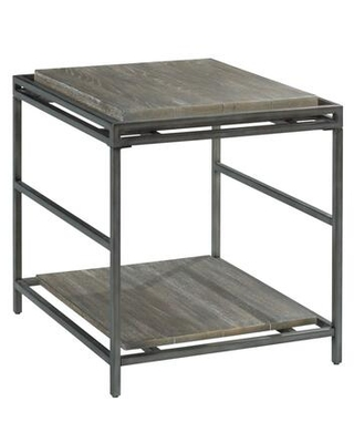 Farrell Collection 975 915 RECTANGULAR END TABLE in Dark Weathered Saddle - hammary