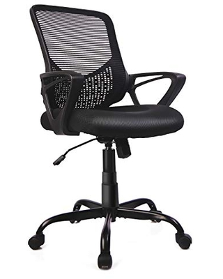 Home Office Chair Mid Back Desk Chair Ergonomic Computer Chair Executive Rolling Swivel Height Adjustable Mesh Task Chair with Lumbar Support Armrest Mesh Back - smug