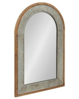 Deely Wood and Metal Framed Arch Wall Mirror - kate and laurel
