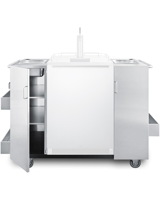 Freestanding Cart With 5 Cu Ft Outdoor Rated Single Tap Beer Dispenser Kegerator Stainless Steel Cabinet - summit