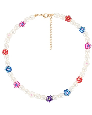 Daisy Pearl Necklace in Metallic - petit moments