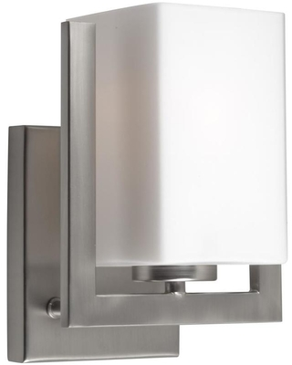 Aria 5 in W 1 Light Brushed Nickel Modern Contemporary Wall Sconce 2669 01 55 - forte lighting