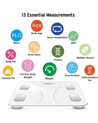 Bluetooth Body Fat Scale Smart Wireless BMI Bathroom Weight Scale Body Composition Monitor Health Analyzer With Smartphone App For Body Weight Fat - kingzone