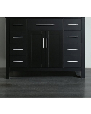 Bathroom Vanities SB 252 7BCWG Contemporary Single Vanity with Soft Closing Drawer Mirror and Tempered Glass Top - bosconi
