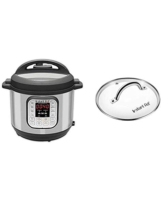 Duo 7 in 1 Electric Pressure Cooker Sterilizer Slow Cooker Rice Cooker Steamer Saute Yogurt Maker and Warmer 14 One Touch Programs & Glass Lid - instant pot