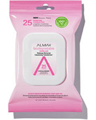 Biodegradable Longwear Makeup Remover Cleansing Towelettes - almay