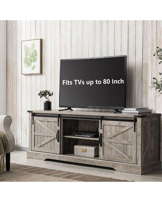 """Gracie Oaks Bryndee TV Stand For TVs Up To 78"""" Wood in Brown, Size 25.0 H in   Wayfair 20D1B5AB59A94B75A1BE1BEFF48C8E80"""