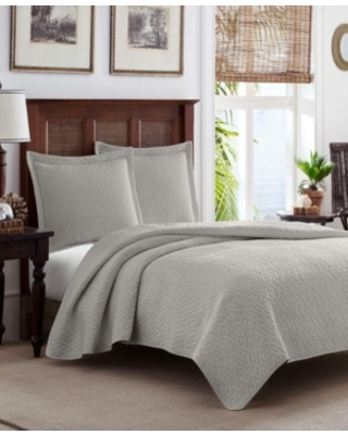 Tommy Bahama Solid Pelican Reversible 3 Piece Full Queen Quilt Set Bedding - tommy bahama home