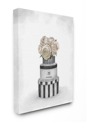 Stupell Industries Fashion Flower Box Stack Neutral Painting Canvas Wall Art by Ziwei Li - stupell home d cor