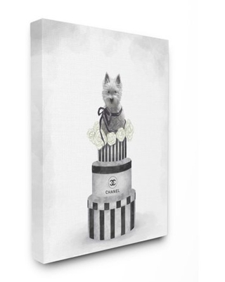 Stupell Industries Fashion Dog Box Stack Painting Canvas Wall Art by Ziwei Li - stupell home d cor