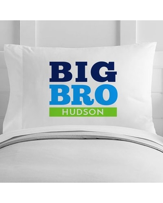 Personalized Big Brother Toddler Pillow Case - 4 wooden shoes