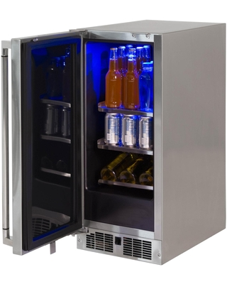 7 Cu Ft Left Hinge Outdoor Rated Compact Refrigerator - lynx
