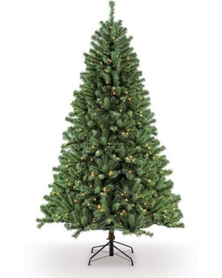 Pre Lit Northern Fir Artificial Christmas Tree with 500 Clear UL Listed Lights - puleo international
