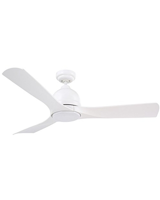 Luminance kathy ireland HOME Volta Modern 54 Inch Ceiling Fan with Light | Indoor/Outdoor LED Fixture with Remote Control | Weather Resistant for Outside Patio, Deck, Porch | Wet Rated, Satin White