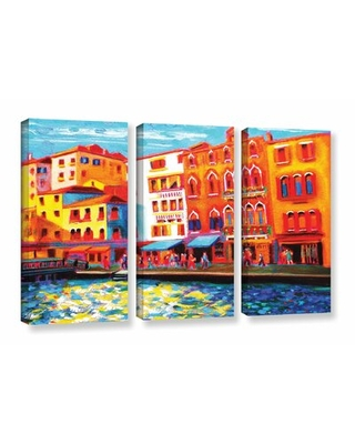 Venice Grand Canal 3 Piece Painting Print on Wrapped Canvas Set - latitude run