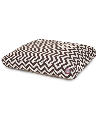 Chocolate Polyester Rectangular 50 in x 42 in Dog Bed For Large 788995504245 - majestic pet products