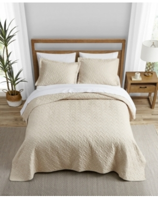 Tommy Bahama Solid Dune Reversible 3 Piece King Quilt Set Bedding - tommy bahama home
