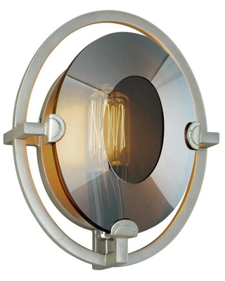 Prism 7 in W 1 Light Silver Leaf Modern Contemporary Wall Sconce B7091 - troy lighting