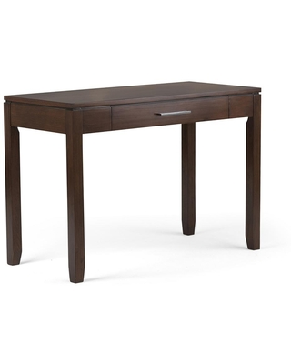 42 in Rectangular Russet Writing Desk with Storage - brooklyn + max