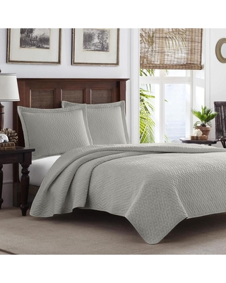 Tb Solid 3 Piece Pelican King Quilt Set Polyester 207900 - tommy bahama