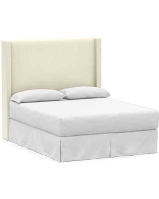 Harper Upholstered Non Tufted Tall Headboard without Nailheads King Premium Performance Basketweave Ivory - undefined