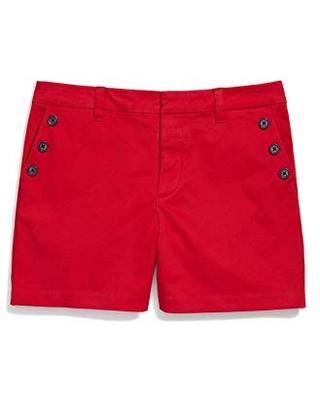 Women's Adaptive Stretch Shorts with Velcro Brand Closure and Magnetic Fly Crimson PT - tommy hilfiger