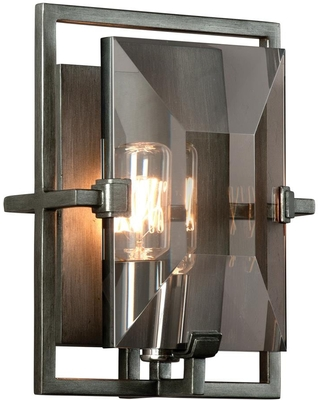 Prism 7 in W 1 Light Graphite Industrial Wall Sconce B2822 - troy lighting