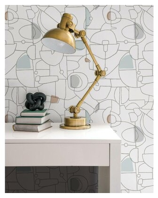 Fauvist Peel and Stick Wallpaper Roll - york wallcoverings