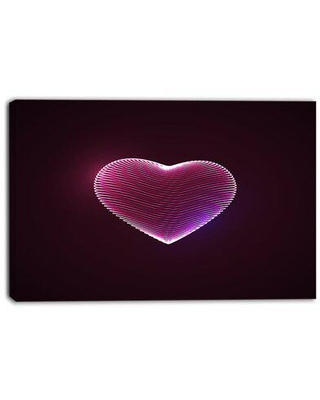 Design Art Happy Valentine's Day - Wrapped Canvas Graphic Art Print Metal in Black/Brown/Pink, Size 30.0 H x 40.0 W x 1.0 D in | Wayfair