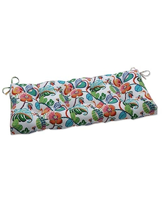 Outdoor Indoor Tropical Fete Mult Tufted Bench Swing Cushion - pillow perfect