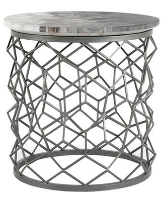 Mythos Collection GK 1010 15 Side Table with Iron Base - moes home collection