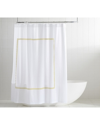 Grand Embroidered Organic Shower Curtain - undefined