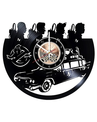 Ghostbusters Record Clock Ghostbusters Wall Decor Ghostbusters Handmade Home Decor Ghostbusters Vinyl Wall Clock Unique Gifts - undefined