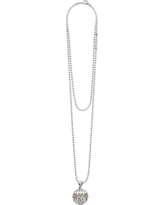 Caviar Talisman Beaded Band Ball Pendant Necklace in Silver 18K at Nordstrom - lagos