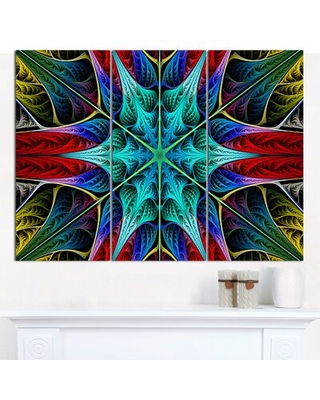 Glowing Fractal Flower Layers' Graphic Art Print Multi Piece Image on Canvas - design art