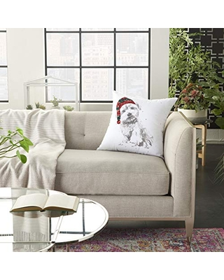 """Nourison Home for The Holiday 18"""" x 18"""", White"""