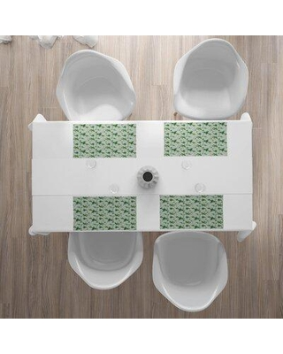 """East Urban Home Orchids 18.5"""" Placemat Polyester in Green, Size 18.5 W x 12.5 D in   Wayfair 066975DB908045488E7575C5D2EDD4BD"""