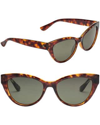 Indio Polarized Cat Eye Sunglasses in Gloss Tort at Nordstrom - electric