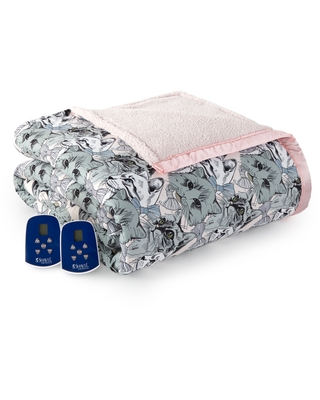 Reversible Micro Flannel to Sherpa Queen Electric Blanket Bedding - shavel