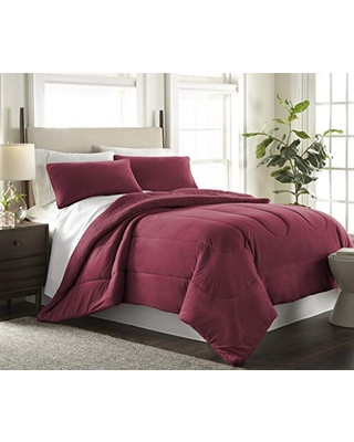 Shavel Reverse to Sherpa Comforter Set Twin - thermee micro flannel