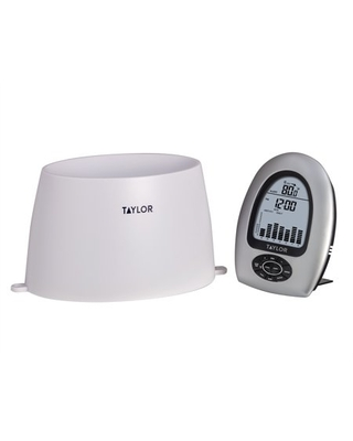 Precision Products Wireless Rain Gauge with Thermometer - taylor