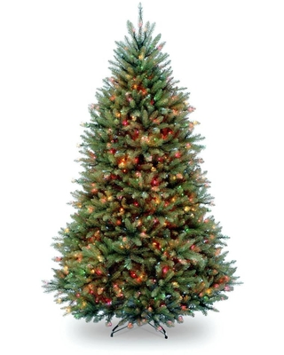 5 ft Pre Lit Dunhill Fir Hinged Artificial Christmas Tree with Multi Color Lights - national tree company