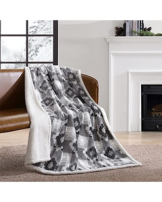 Ultra Plush Collection Throw Blanket Reversible Sherpa Fleece Cover Soft & Cozy Perfect for Bed or Couch - eddie bauer