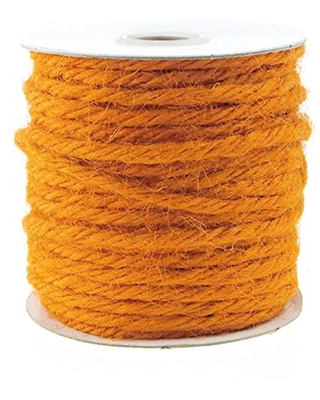 Firefly Imports Jute Twine Cord Rope Ribbon 1 8 Inch 25 Yards 1 - homeford
