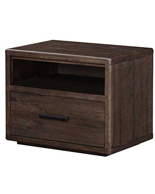 BM187662 Wooden Nightstand with One Drawer and One Shelf - benzara