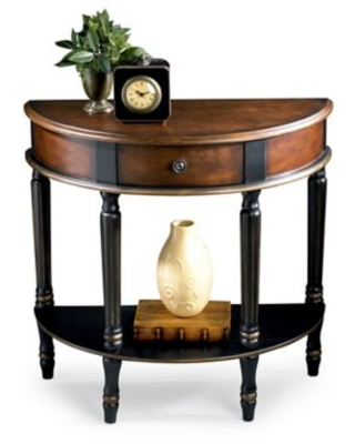 Mozart Demilune Console In Cafe Noir - butler specialty company