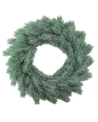 Frosted Pine Artificial X mas Wreath - northlight