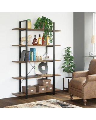 Gracie Oaks Ackles Etagere Bookcase Wood in Brown, Size 69.7 H x 47.2 W x 11.4 D in   Wayfair C09E1A63B06E4A6398B0ABBAFCCDAD72